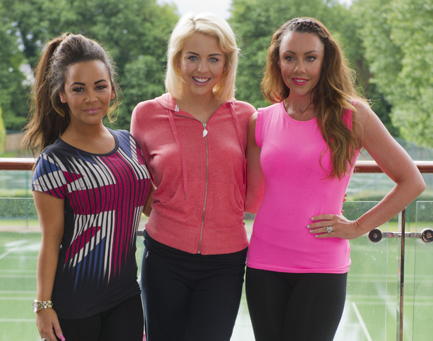 Celebrities at Virgin Active London Triathlon launch: Chelsee Healey, Lydia Bright & Michelle Heaton