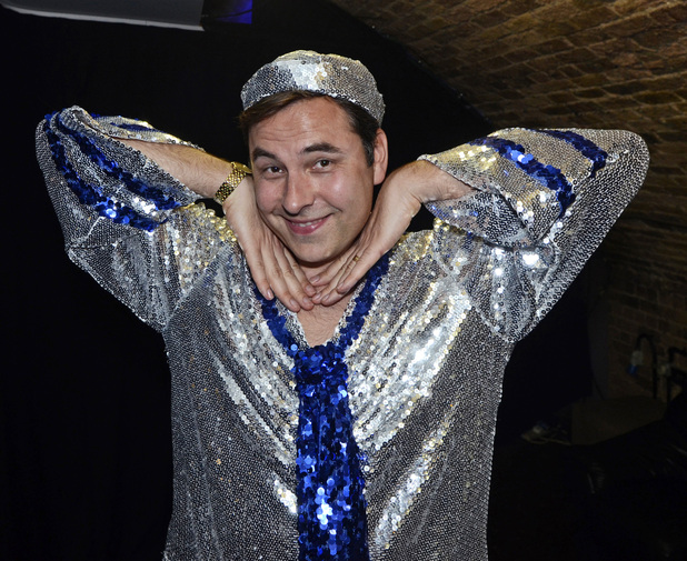 David Walliams performs with the Show Bears