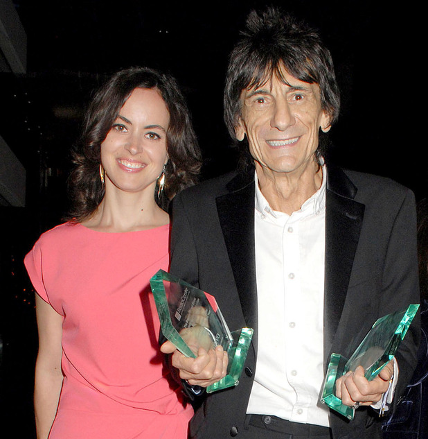 Sally Humphreys and Ronnie Wood, Arqiva Commercial Radio Awards 2012 - London, England - 04.07.12