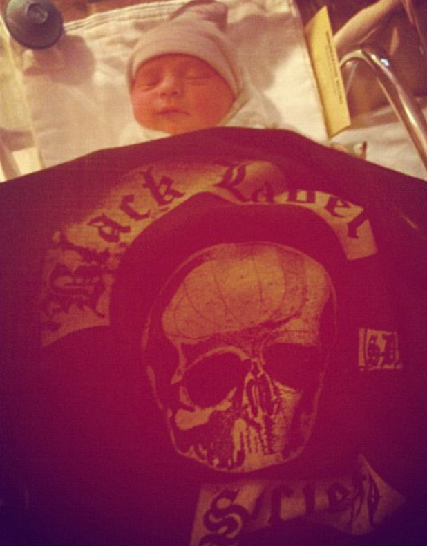 Zakk Wylde posts a picture of his baby on Instagram