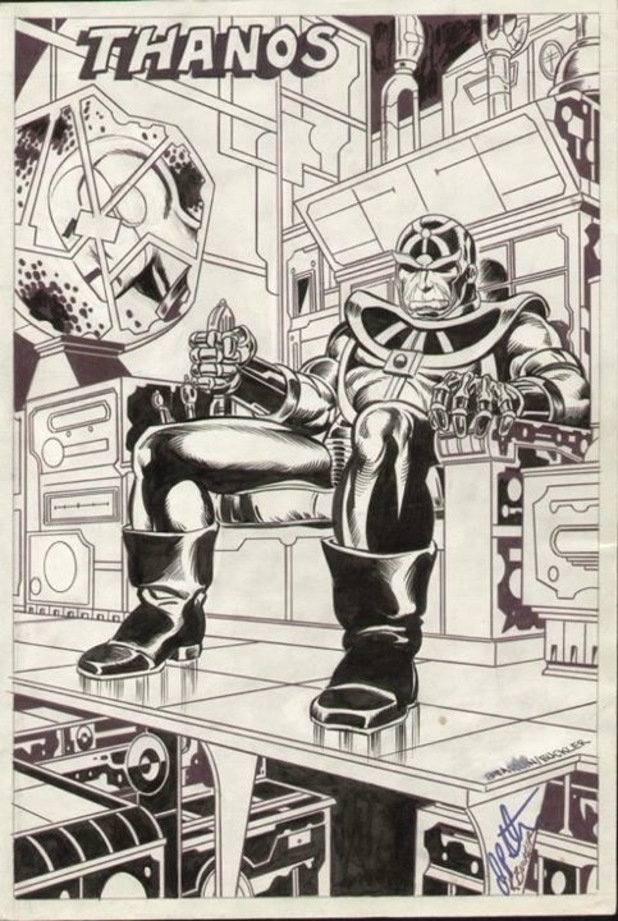 Thanos Jim Starlin concept drawing