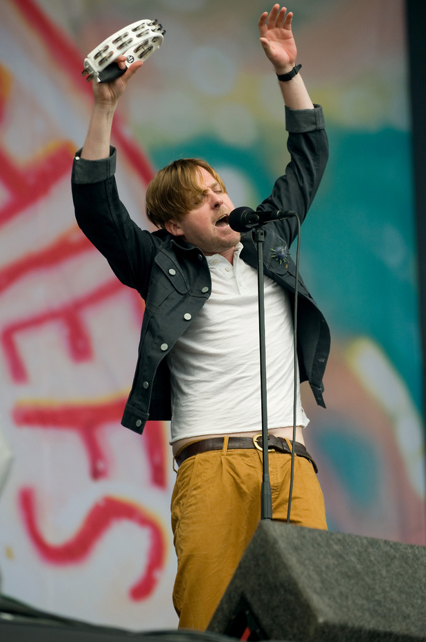 T in the Park: Ricky Wilson of the Kaiser Chiefs.