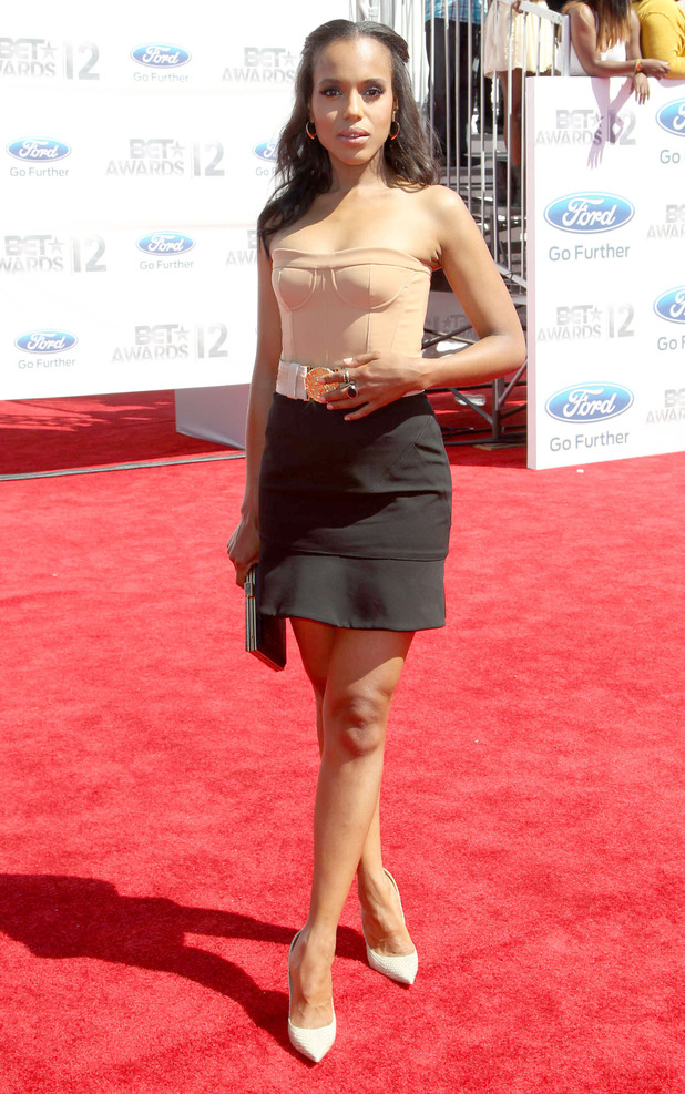 Kerry Washington arriving at the 2012 BET Awards in Los Angeles