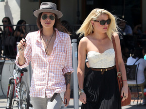 Amber Heard and Tasya Van Ree leaving Urth caffe after having lunch Los Angeles, California
