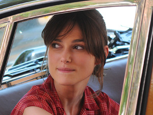 Keira Knightley filming on the set of 'Can A Song Save Your Life?' on Manhattan