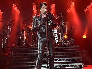 Adam Lambert and Queen live in concert at the Hammersmith Apollo, London