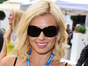 Katherine Jenkins attends the Barclaycard Unwind Lounge at the O2 Wireless festival