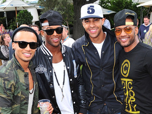 JLS attend the Barclaycard Unwind Lounge at Day 2 of the O2 Wireless festival