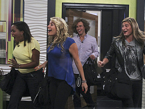 Jodi Rollins, Ashley Locco, Frank Eudy and Wil Heuser as they first step in to the Big Brother house