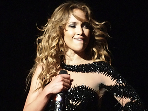 Jennifer Lopez performing live in Canada.