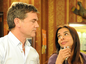 Sunita hangs around in the pub until closing time, asking Karl to let her stay for one more drink