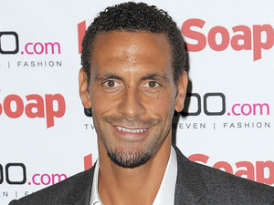 Rio Ferdinand at the Inside Soap launch party at  Rosso Restaurant in Manchester