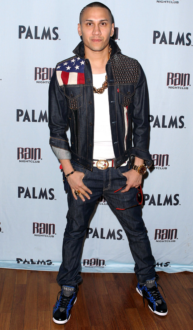 Black Eyed Peas band member Taboo celebrates his birthday at the Rain nightclub, Las Vegas.