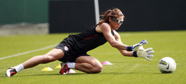 Hope Solo in training, September 2011 (PA green label)