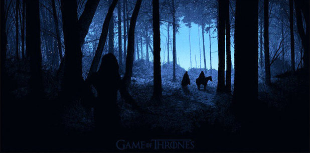 Comic Con 2012 poster for Game of Thrones