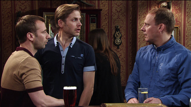 Marcus arranges a date with Aiden, but when they meet in the Rovers they bump into Sean, who is clearly upset