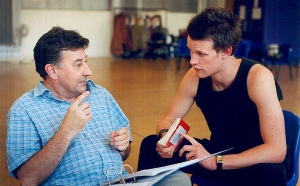 Matt Smith with the late Ed Wilson at the National Youth Theatre in 2003