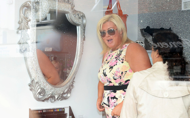 Gemma Collins at the opening of  'Harry's World', a new fashion boutique owned by Harry Derbidge from 'The Only Way is Essex'