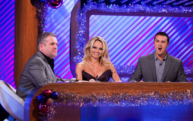 Chris Moyles, Pamela Anderson and Paddy McGuinness