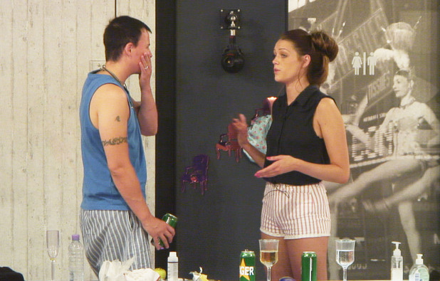 Luke A and Sara during a dispute