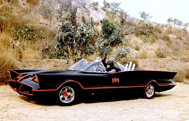 Adam West and Burt Ward's Batmobile