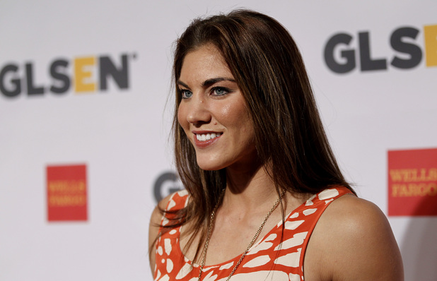 Hope Solo, pictured in October 2011