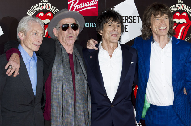 The Rolling Stones, arrive at a central London venue, to mark the 50th anniversary of the Rolling Stones first performance