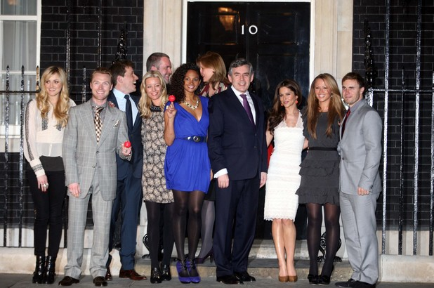 Fearne Cotton, Ronan Keating, Chris Moyles, Denise Van Outen, Sarah Brown, Alesha Dixon, Gordon Brown, Cheryl Cole, Kimberley Walsh, Gary Barlow