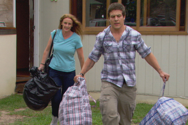 Brax tries to get his mother out of Danny's way.