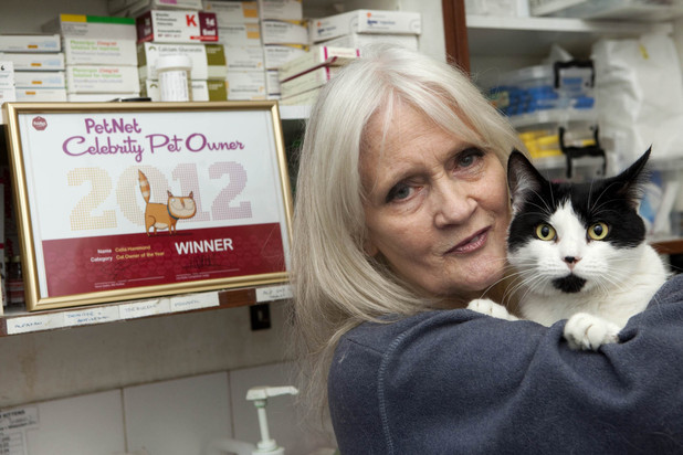 Celia Hammond with her cat Mary