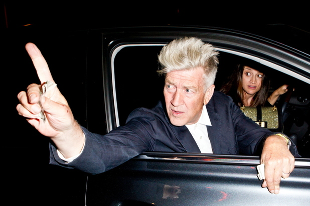 David Lynch and a friend leaving Chateau Marmont Los Angeles, California