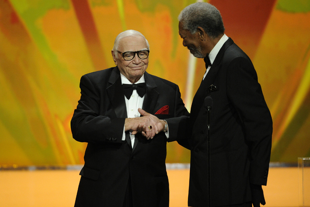 Ernest Borgnine and Morgan Freeman