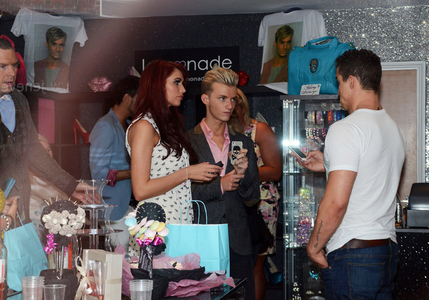 Harry Derbidge And Amy Childs at the opening of  'Harry's World', a new fashion boutique owned by Harry Derbidge from 'The Only Way is Essex'