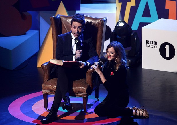Nick Grimshaw and Fearne Cotton during the Radio 1 Teen Awards