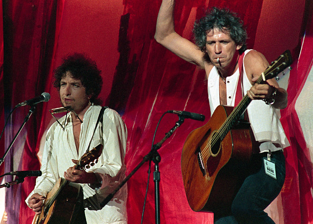 Keith Richards and Bob Dylan