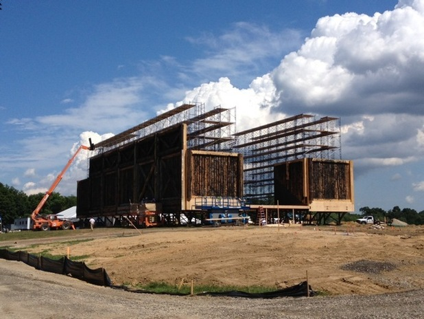 Darren Aronofsky posts picture of ark construction from &#39;Noah&#39; set