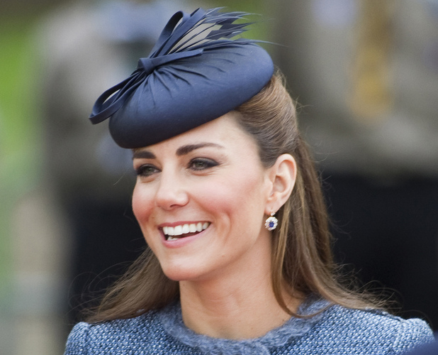 Catherine, Duchess of Cambridge aka Kate Middleton accompanies Queen Elizabeth II on a visit to Vernon Park during her Diamond Jubilee tour of Britain in Nottingham, England  on 13.06.12. **Available for publication in the UK & USA only. Not for publication in the rest of the world** Credit: WENN.com