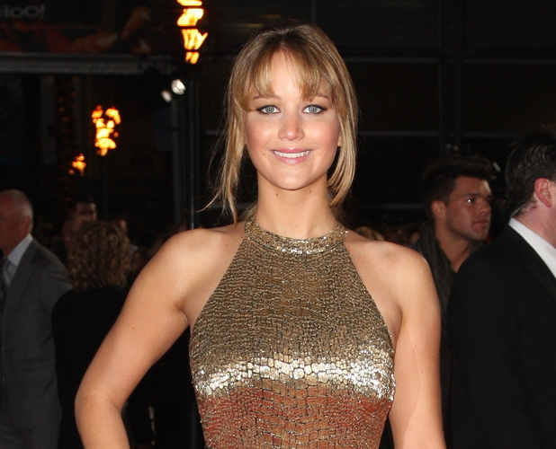 Jennifer Lawrence at the UK premiere of 'The Hunger Games' held at the O2 on March 14, 2012