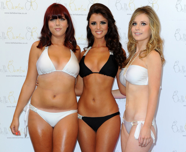 Lucy Mecklenburgh pictured at the launch of her new swimwear range, Bella Bamba, at the Soho Sanctum hotel in central London