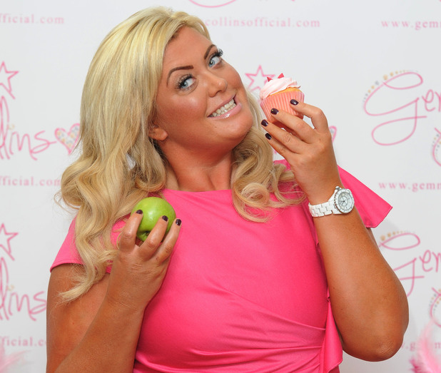 Gemma Collins pictured at the launch of her plus-sized clothing range, at the Worx studios in west London