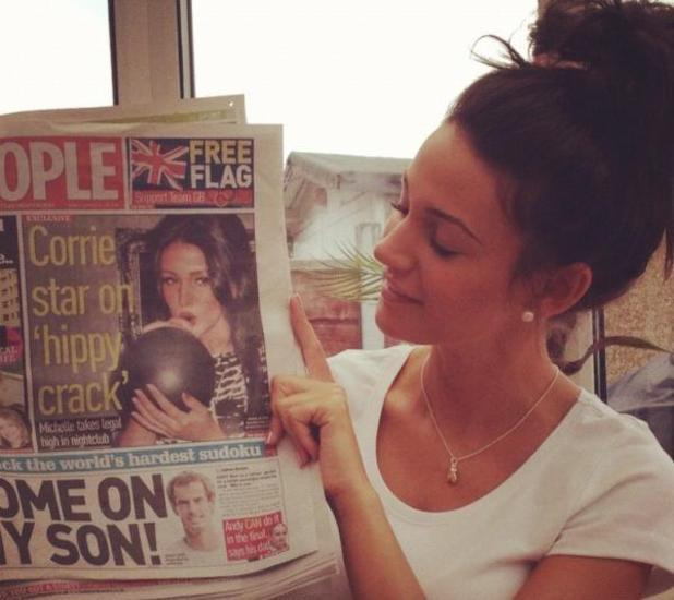 Michelle Keegan showing off her appearance in The People