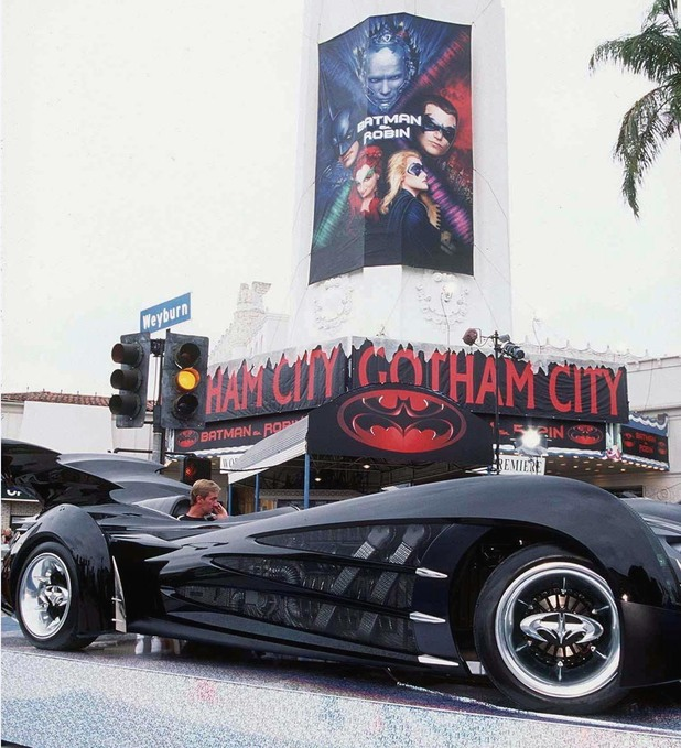The Batmobile for 'Batman & Robin'