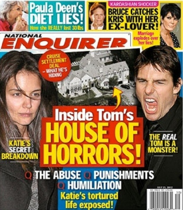 Tom Cruise on the cover of 'National Enquirer'