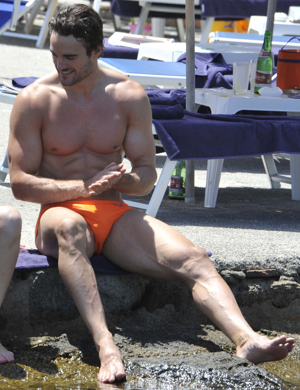 Kelly Brook and Thom Evans enjoy a day at the beach in Ischia Ischia, Italy