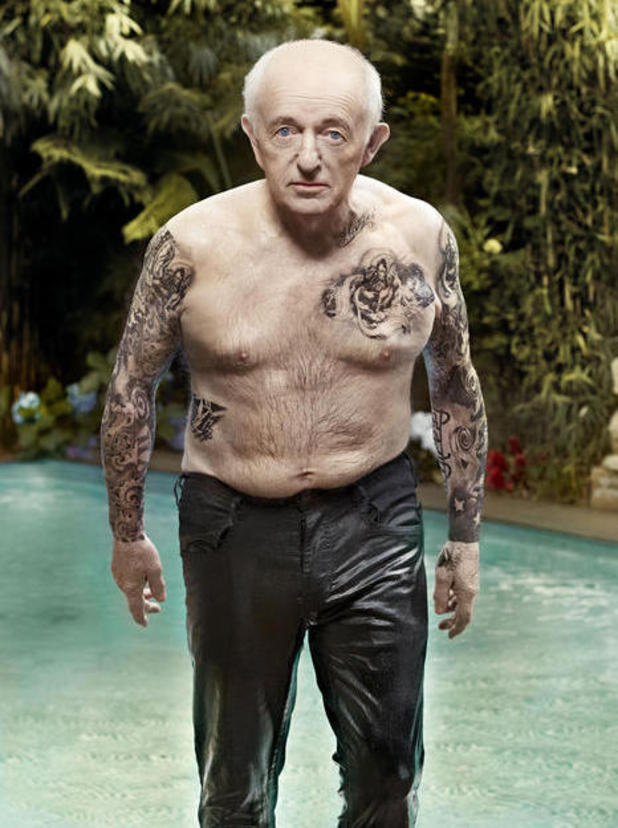 Paul Daniels as David Beckham for Closer Magazine