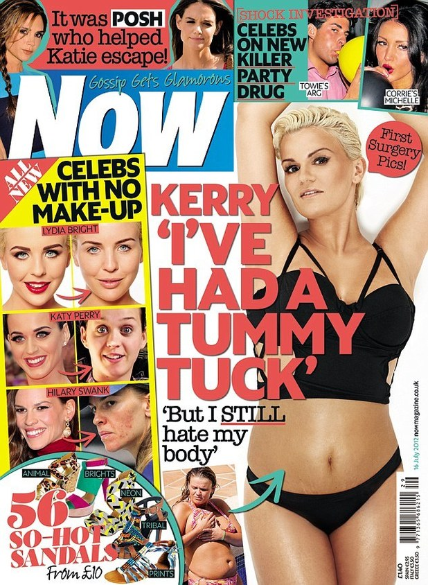 Kerry Katona on the cover of Now Magazine