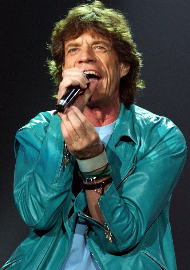 Mick Jagger, lead singer of the Rolling Stones, performs at the Wembley Arena, west London, as part of the band's Forty Licks 2003 world tour
