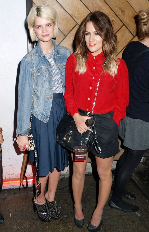 Pixie Geldof and Caroline Flack