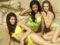Two girls exit Britain & Ireland's Next Top Model during a Dubai trip.
