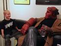 Ron Perlman fulfils a child's wish by hanging out with him all day as the hero.